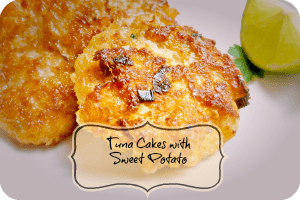Recipe – Tuna Cakes with Sweet Potato