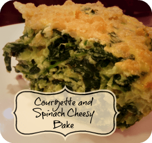 Recipe – Cheesy Courgette and Spinach Bake