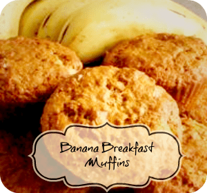 Recipe – Heathy Banana Breakfast Muffins