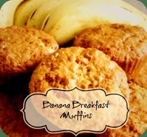 Recipe – Heathy Banana Breakfast Muffins